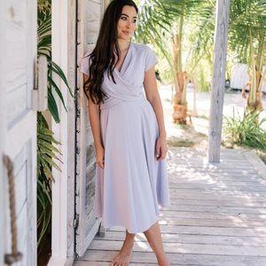 Gal Meets Glam Lilac Midi Dress Size 6
